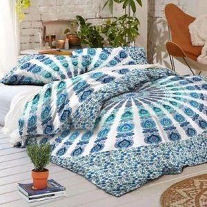 🌸BOGO 100% Cotton Blue Mandala Duvet Cover Set